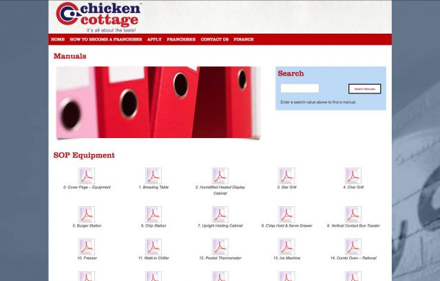 intranet, cms, staff systems, franchisee portal, franchise, chicken cottage, website, design, solutions