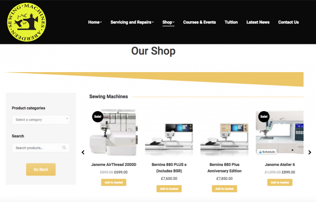 aberdeen sewing machines, shop, ecommerce, sewing machines, resolution, website design, website solutions, res digital, resolution television,