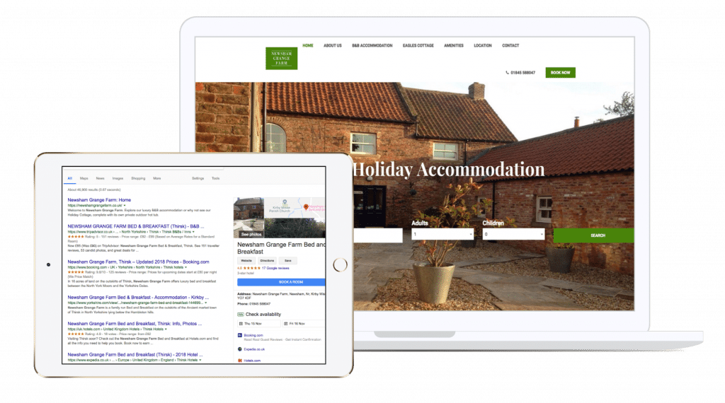 digital marketing, analytics, seo, adwords, sem, google, search engine, optimisation, newsham grange farm, resolution television, res digital, website, hotel, booking, ecommerce