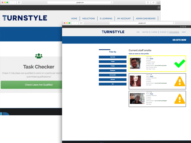 On-Site & Task Checker Mock Up | Resolution Digital